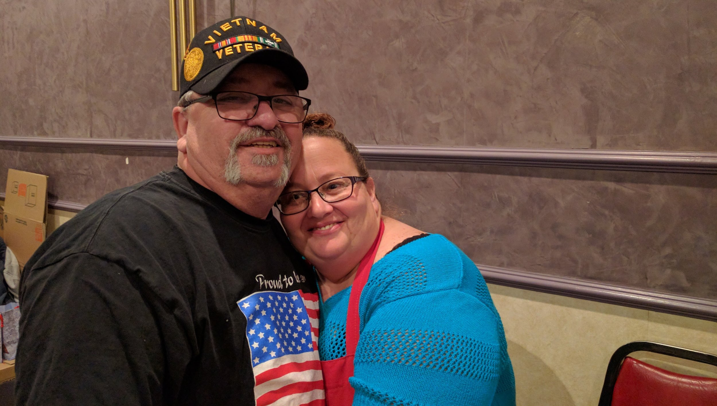 The Mellos with the Reno Sparks Homeless Veterans organized a recent holiday meal where homeless and low-income Veterans and senior citizens were invited. Those who attended left with a full stomach, holiday cheer and a goodie bag.
