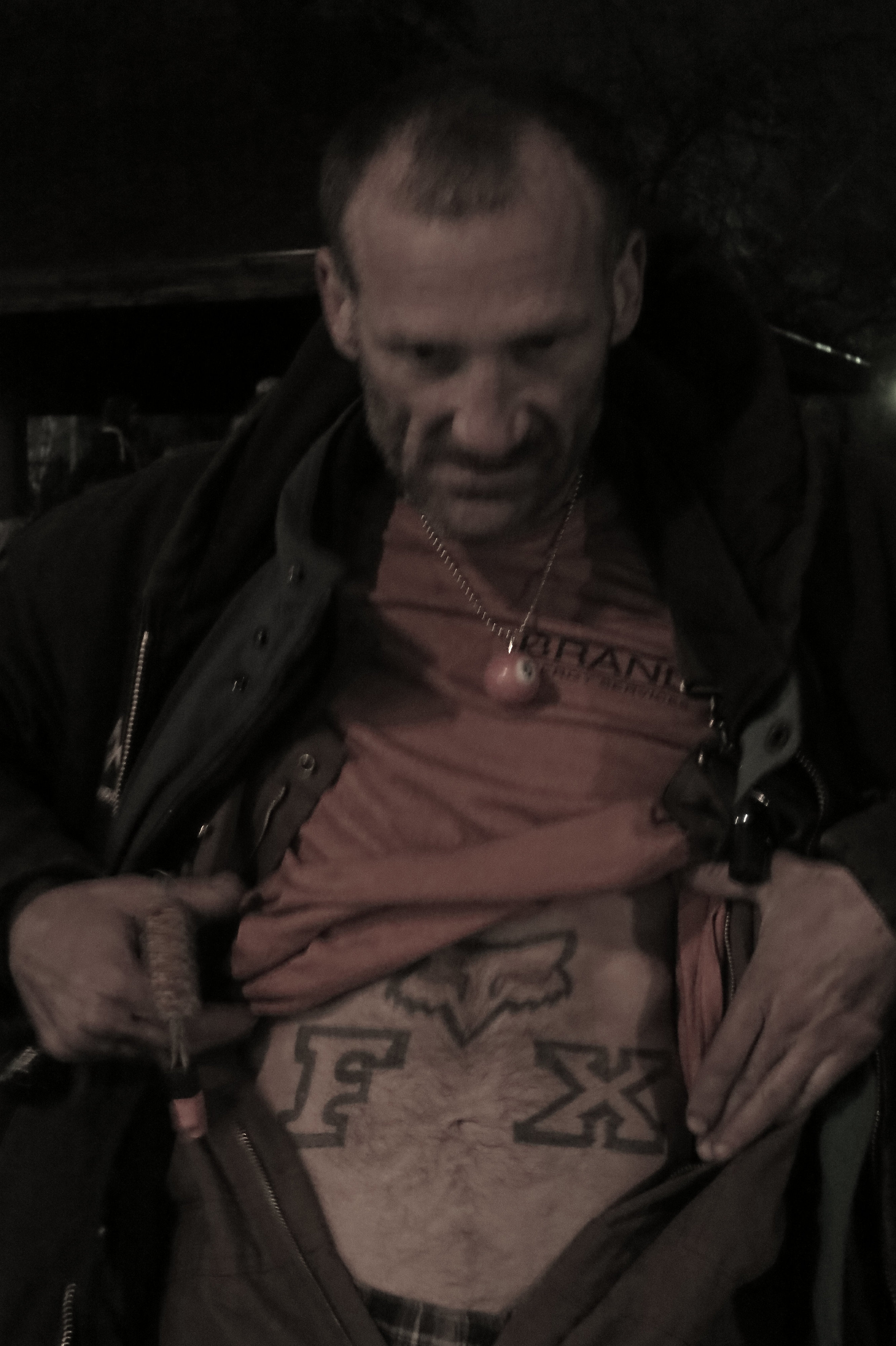 Fox got his tattoo and his nickname from his BMX racing passion.