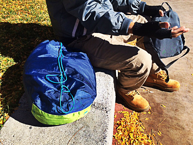 On a cold day, a 33-year-old suicidal man originally from New Jersey, we'll call Ace*, so he can remain anonymous, was carrying clean clothes inside his backpacks, warming up in the sun, and waiting to go back to Reno's homeless shelter.