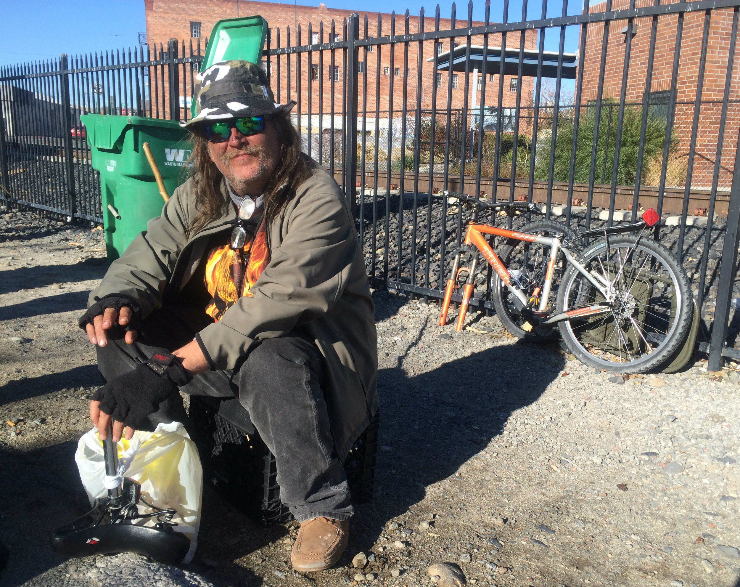 Alan, a self-described fourth generation 54-year-old Northern Nevadan, collecting about $700 in disability payments, is one of many local residents recently fending for himself on the streets due to rising rents. Photo and Interview by Prince Nesta for Our Town Reno