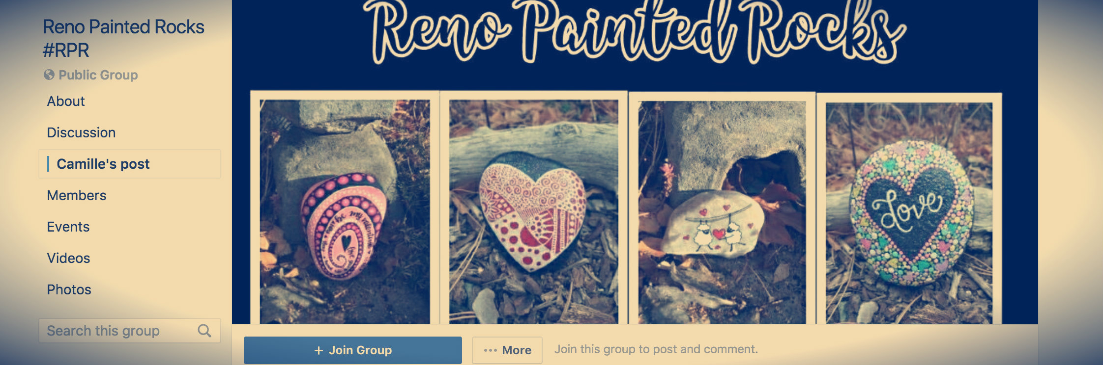"People who find the rocks take pictures of them and post them to Facebook to have their find shared with the group. Walker, who works in a bakery, said she ""loves"" Reno and described the art scene in the city as up and coming. ""(The up and coming art scene) is a big draw for me, I love the arts, so (Reno has) got nice culture."""