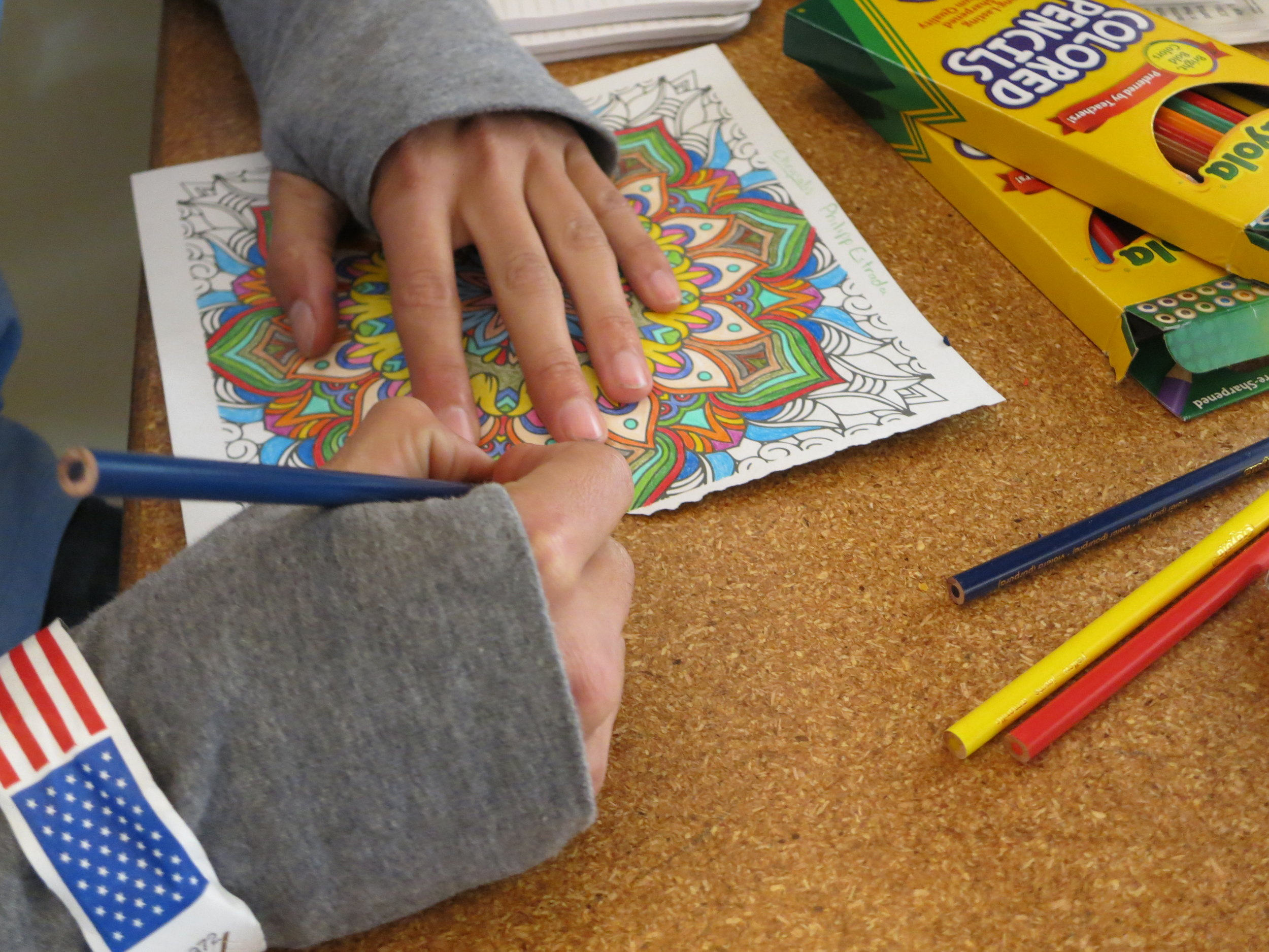 Homeless youths were encouraged to create therapeutic art as part of the day's activities. After being counted and surveyed about their current conditions, they were given access to donations, food and other services.