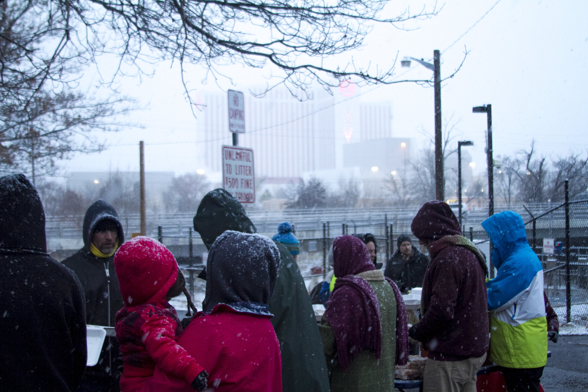 For those interested in participating,  Food Not Bombs Reno can be found on Facebook . They say those who wish to help can just come at 5:30 on Monday evenings with whatever they can bring, from food to utensils, garbage bags and plastic plates, as well as donations for the houseless.https://www.facebook.com/renofoodnotbombs/