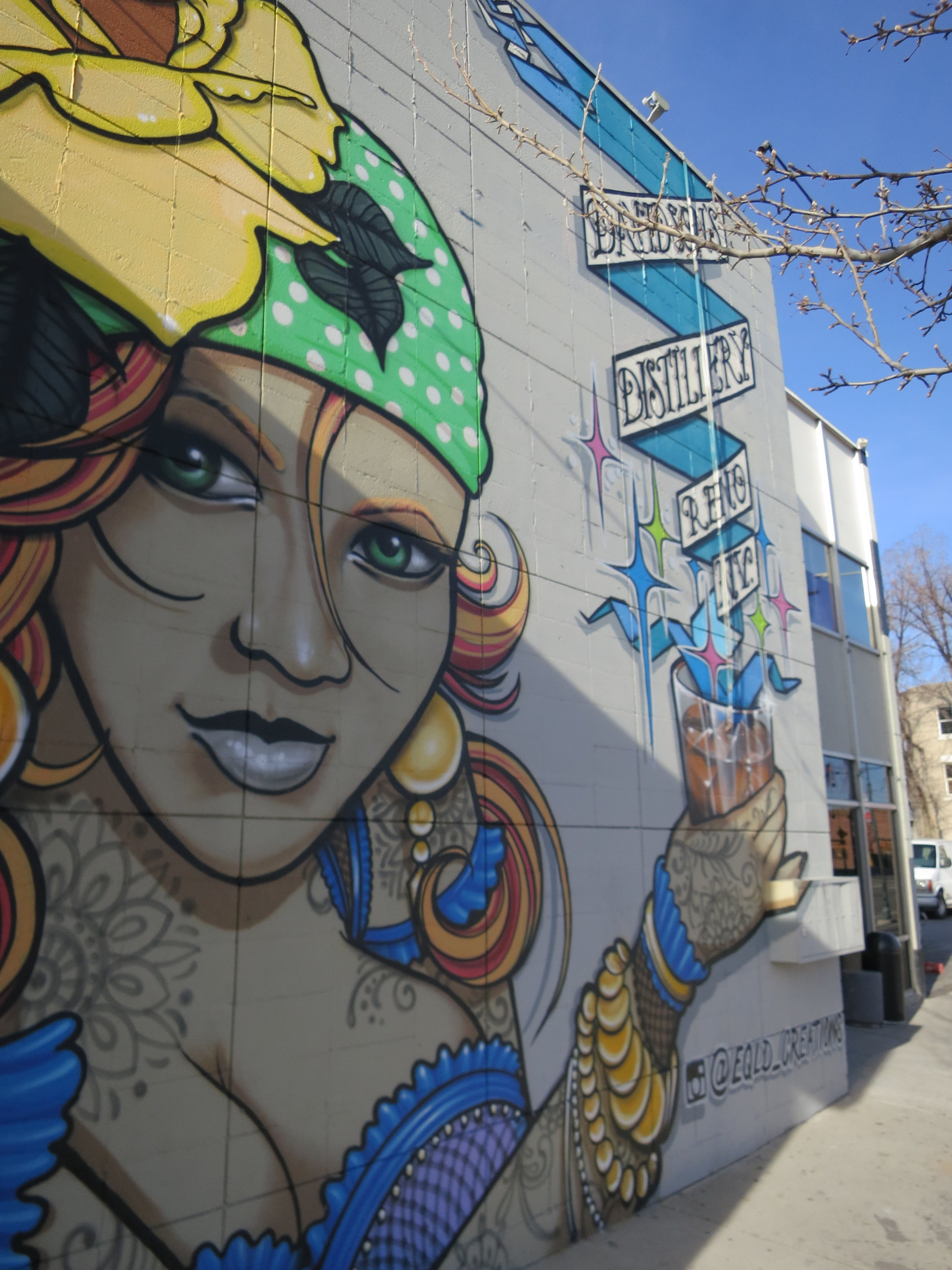 Businesses also pay for muralists to decorate their walls in the downtown corridor.