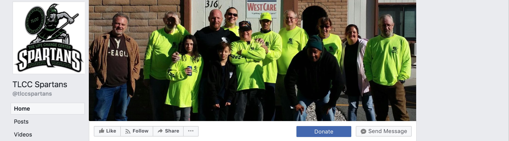 Denton's Spartans initiative has its own Facebook page and records the good deeds they do in the community.