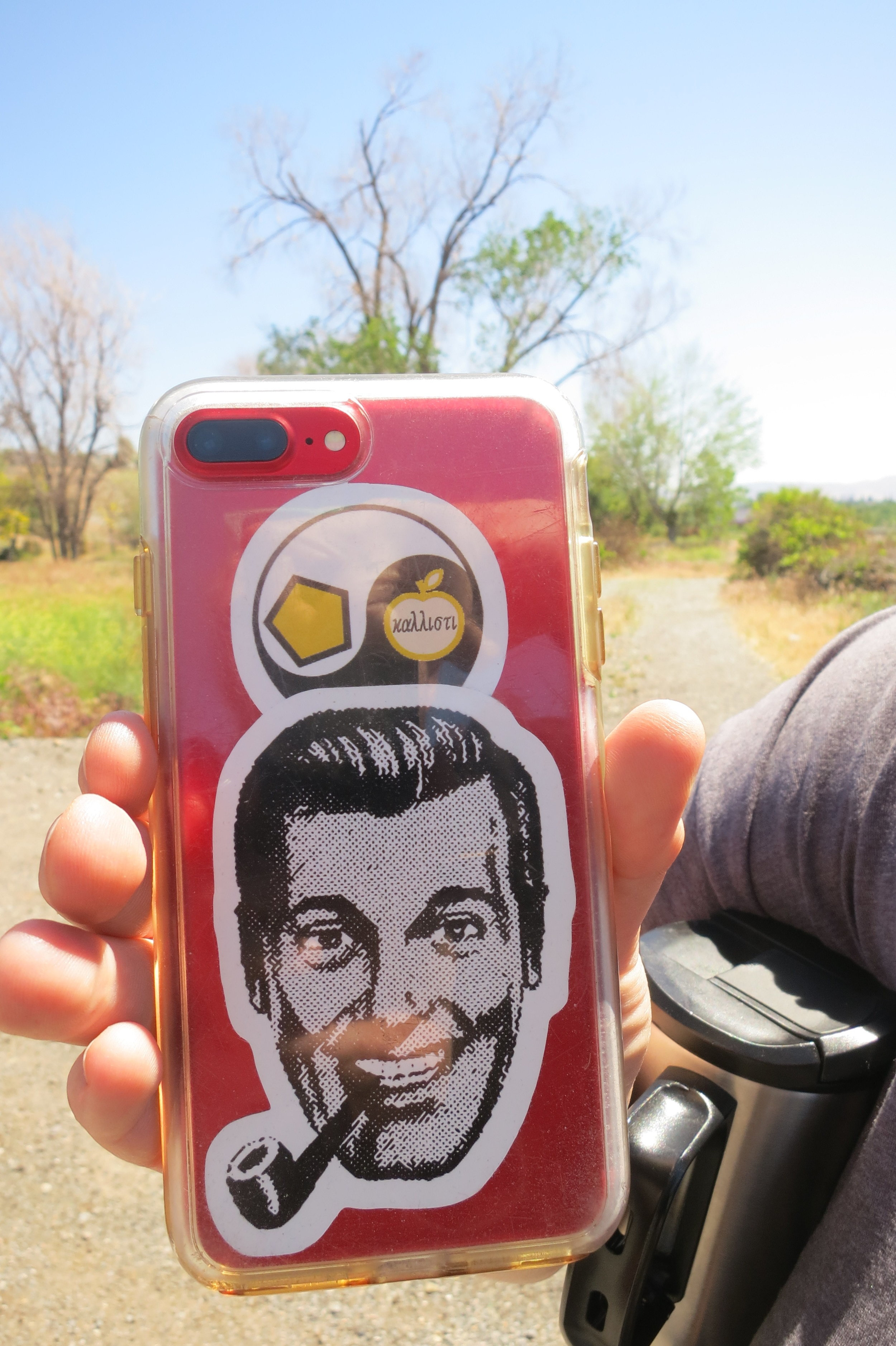 """That's J.R ""Bob"" Dobbs. Who was Bob Dobbs? He is the man who was originally clip art, but he became a man.  I am a subGenius."""