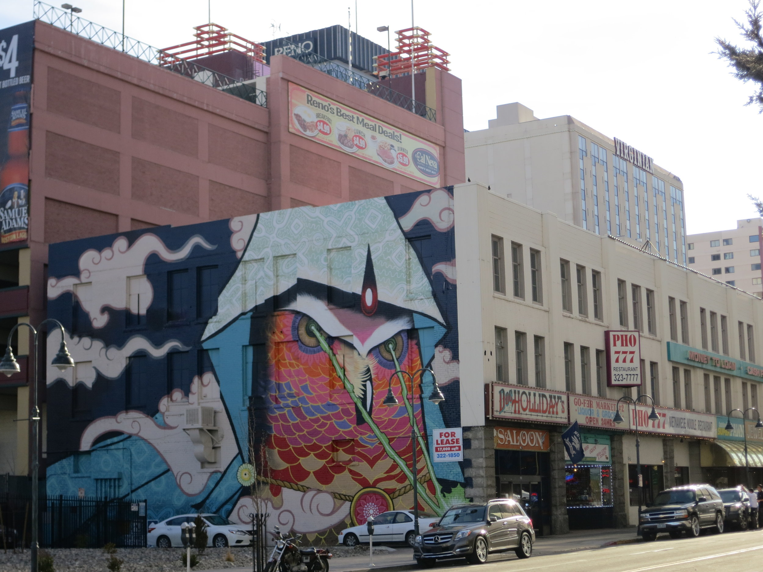 New murals continuously dot the downtown Reno landscape.