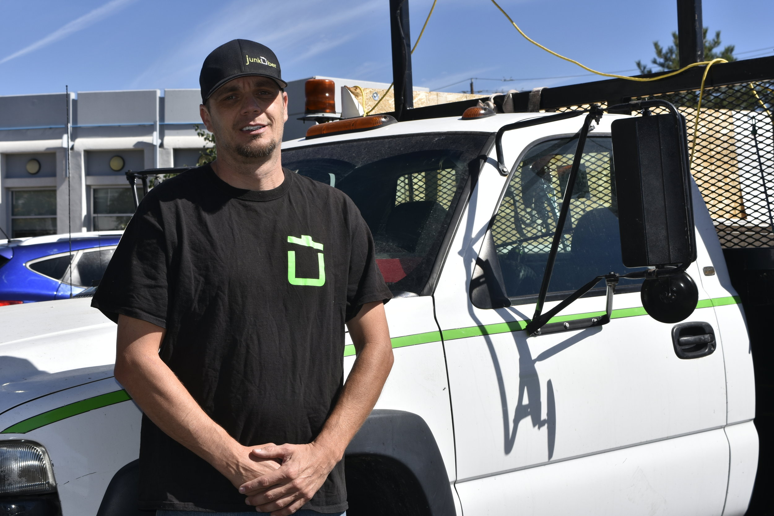 """""""It's eye opening and changes your world. It humbles you,"""" the entrepreneur said of going """"undercover homeless"""" in Reno. Doss, 41, operates the JunkUber.com removal service, but unlike others in his business field, he donates back to the homeless and those without many means moving into new residences. He also took part in an outreach initiative for the homeless several years ago, going undercover and walking in their shoes for a few days. Photo by Jordan Blevins and reporting by Prince Nesta for Our Town Reno."""