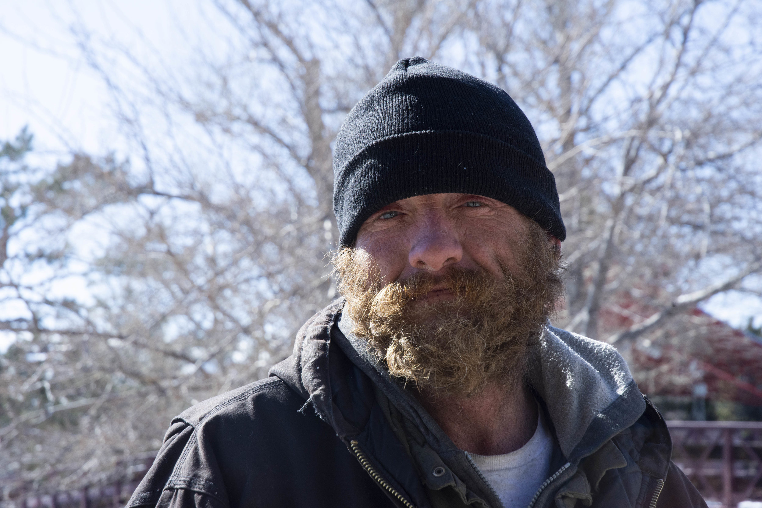 """It's kinda rough out here… You've got to be tough and you've got to be able to handle it. And a lot of people don't. I've had two friends already died this year because they can't handle it out here. It's so cold at night,""  Lee said. He says he's a former Marine who served in Afghanistan who has been living on the streets of Reno for the past six years."