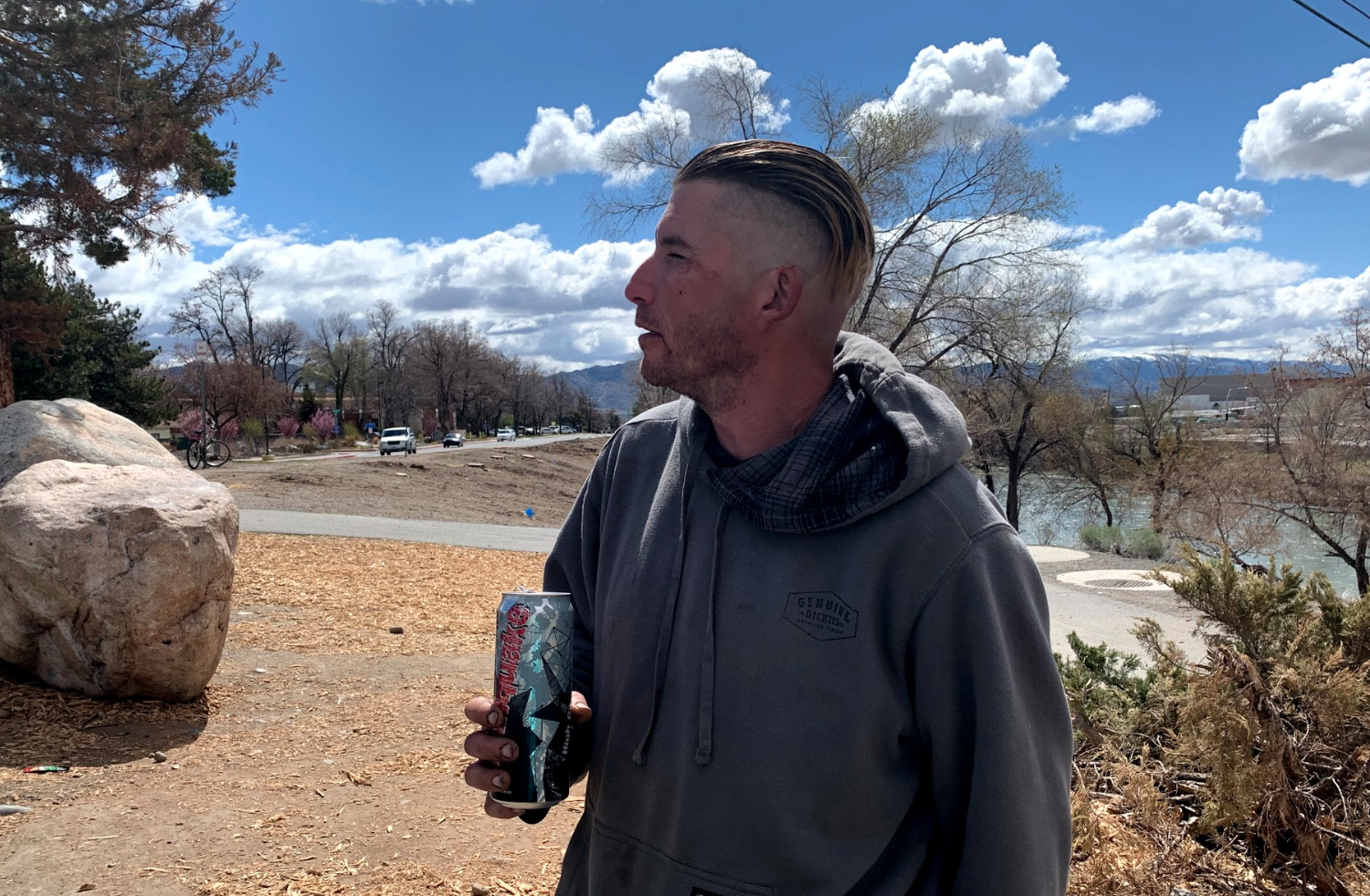 """People come to the park, and offer jobs so i'm getting ready to be picked up right now,"" Josh, 33, said when we met him. ""It's picking up slowly, but it's picking up, you know. It's gonna be busy later but now it's slow and we are just here hanging out. Payment depends on a person. Sometimes I make a hundred, maybe under 100... it depends on the person and the job itself."""