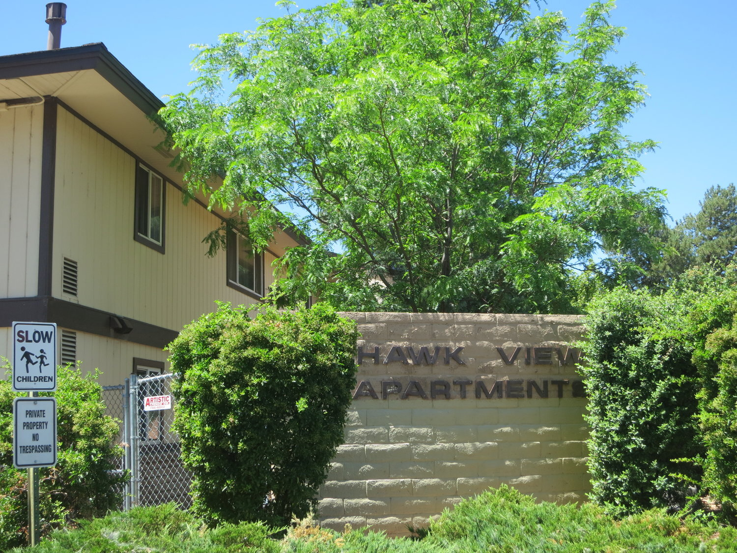 Some residents find subsidized housing such as here at the Hawk View Apartments, but others say they are being pushed out of Reno.