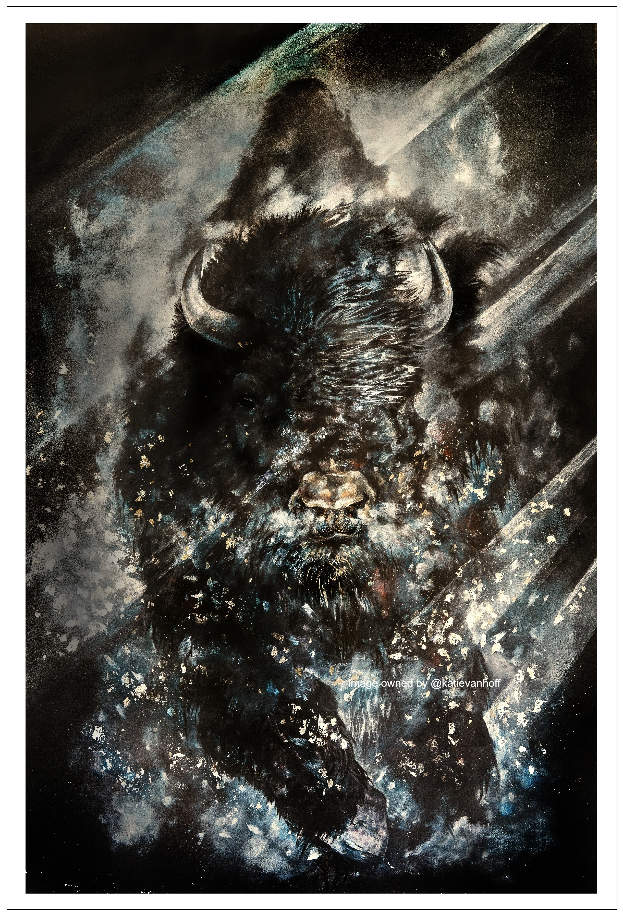 Misted Bison