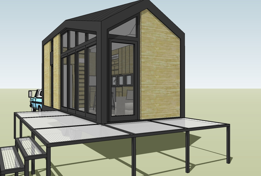 Deck is just an approximation, actual design to be customized for our backyard.