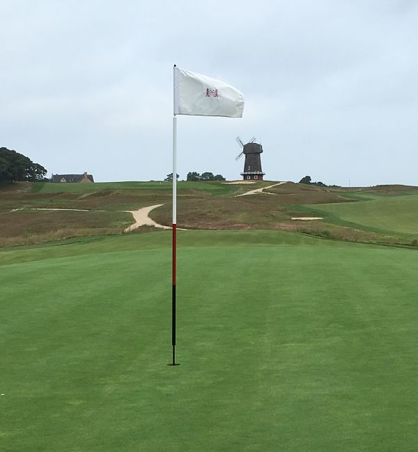 The National Golf Links of America has a famous windmill landwark