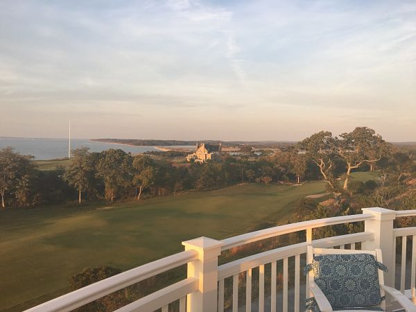 The view over NGLA from the Sebonack clubhouse