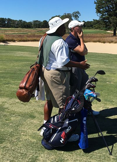 One of our caddies at Shinnecock had looped for Clinton (Bill), Woods and Nicklaus!