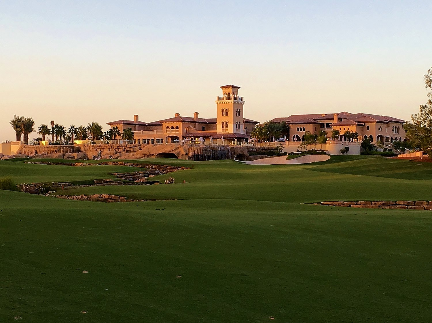 The 18th at the Earth Course - a high point!