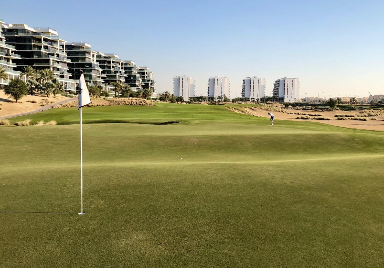 The 7th at Trump Dubai has a cool Biarritz green