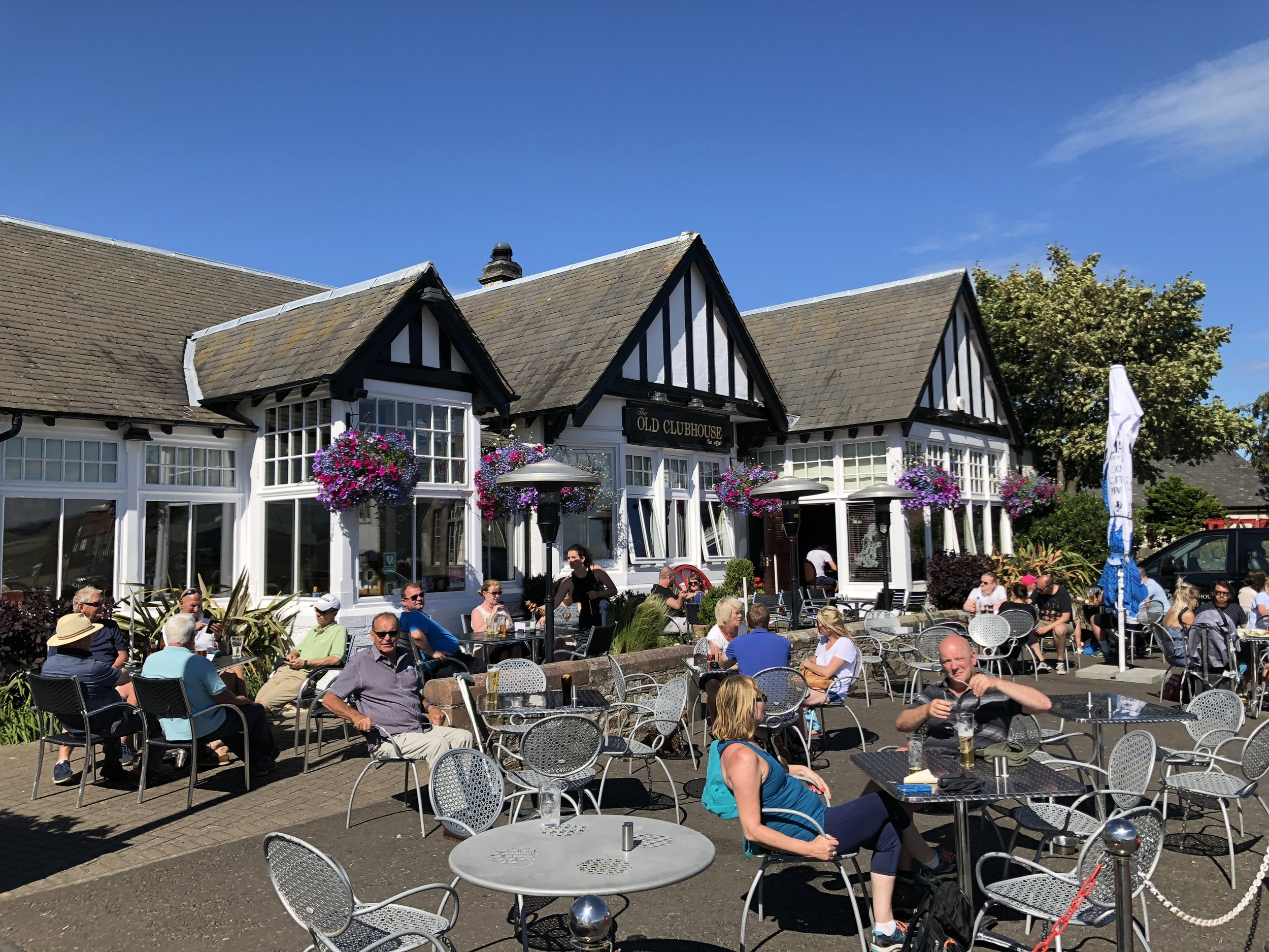 The Old Clubhouse is within 100 yards of Gullane Golf Club and a great spot for a post (or pre) match drink.