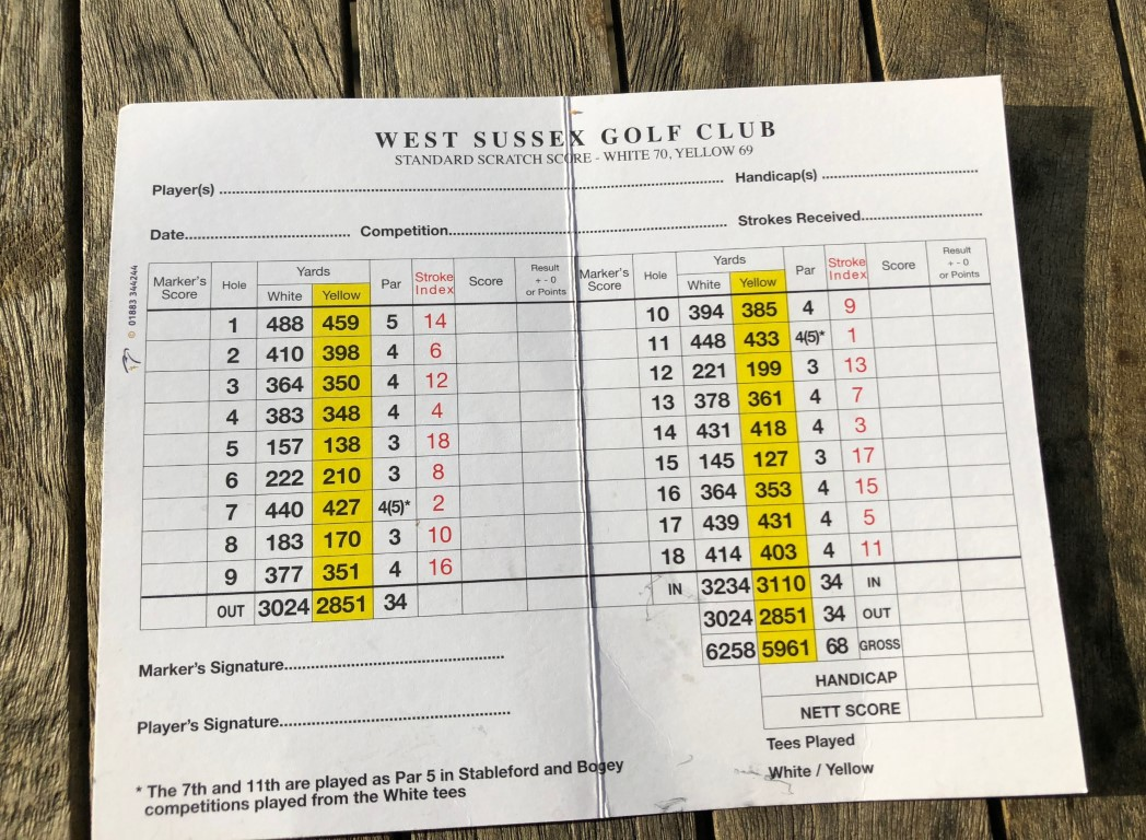 The scorecard at West Sussex may show a par 68 but it doesn't play like a short course!