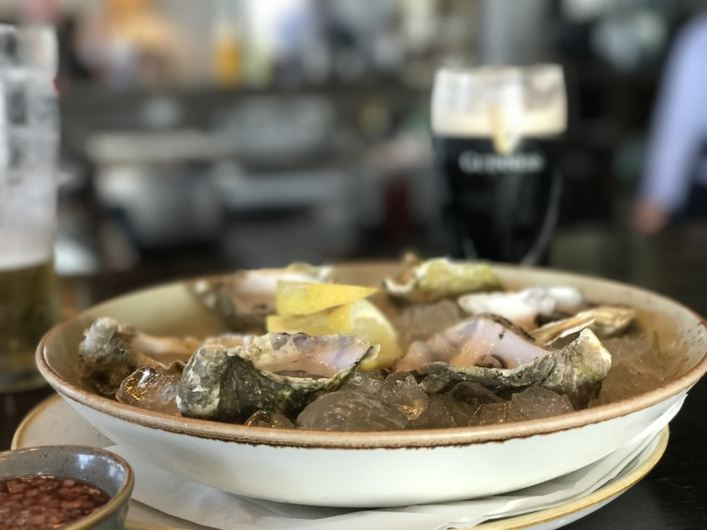 Local oysters on offer at Doonbeg