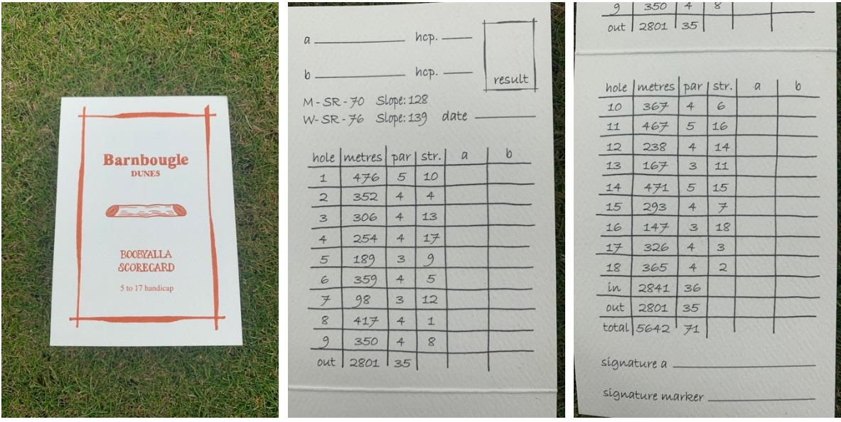 Barnbougle Dunes Scorecard
