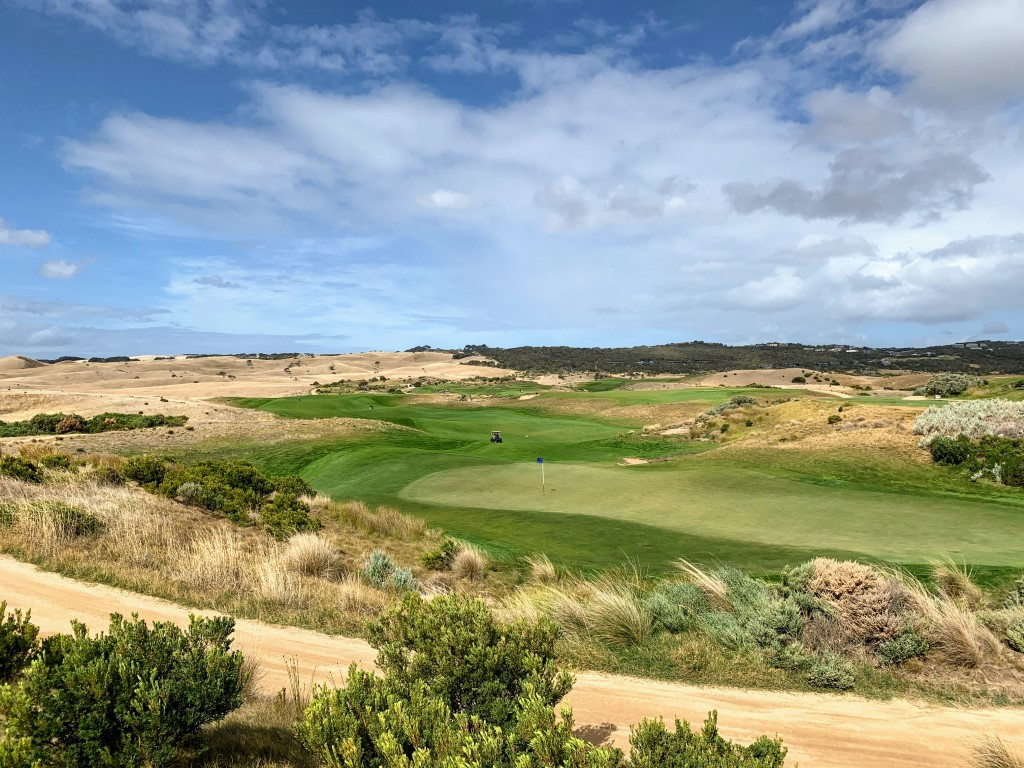 The Moonah Course at the National Golf Club is spectacular in scale, and quality.