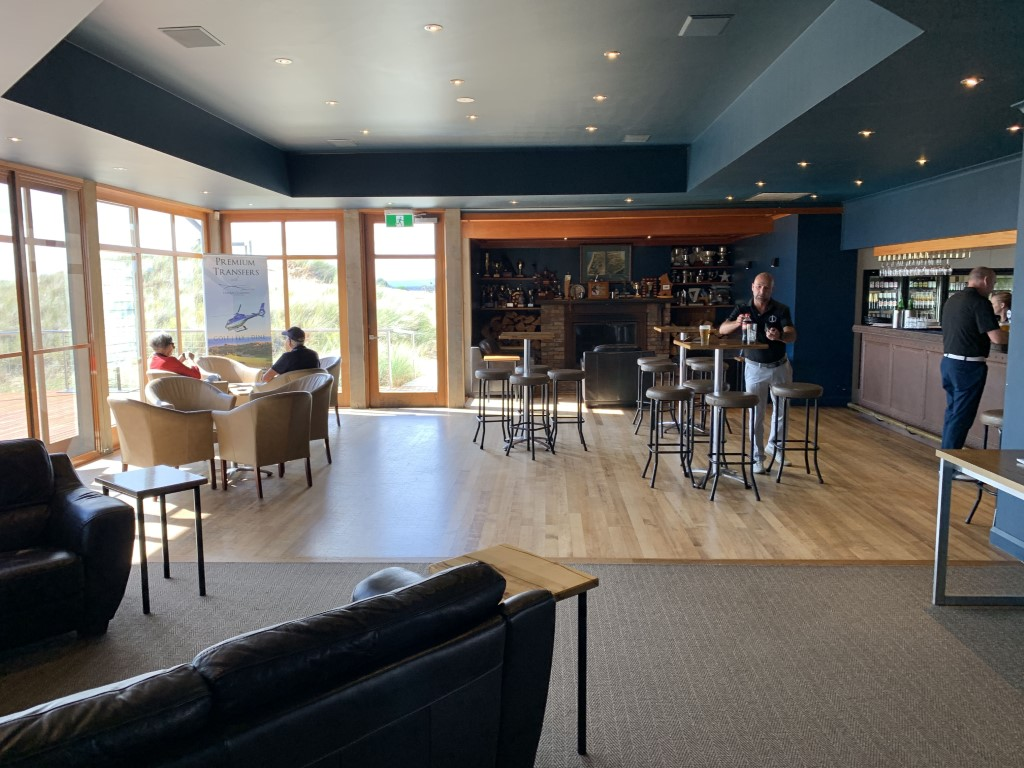 The sports bar at Barnbougle