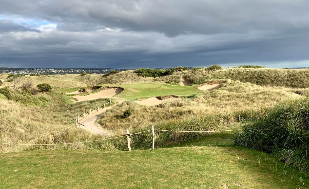 The 7th hole at Barnbougle - one of the finest par 3s anywhere in the world