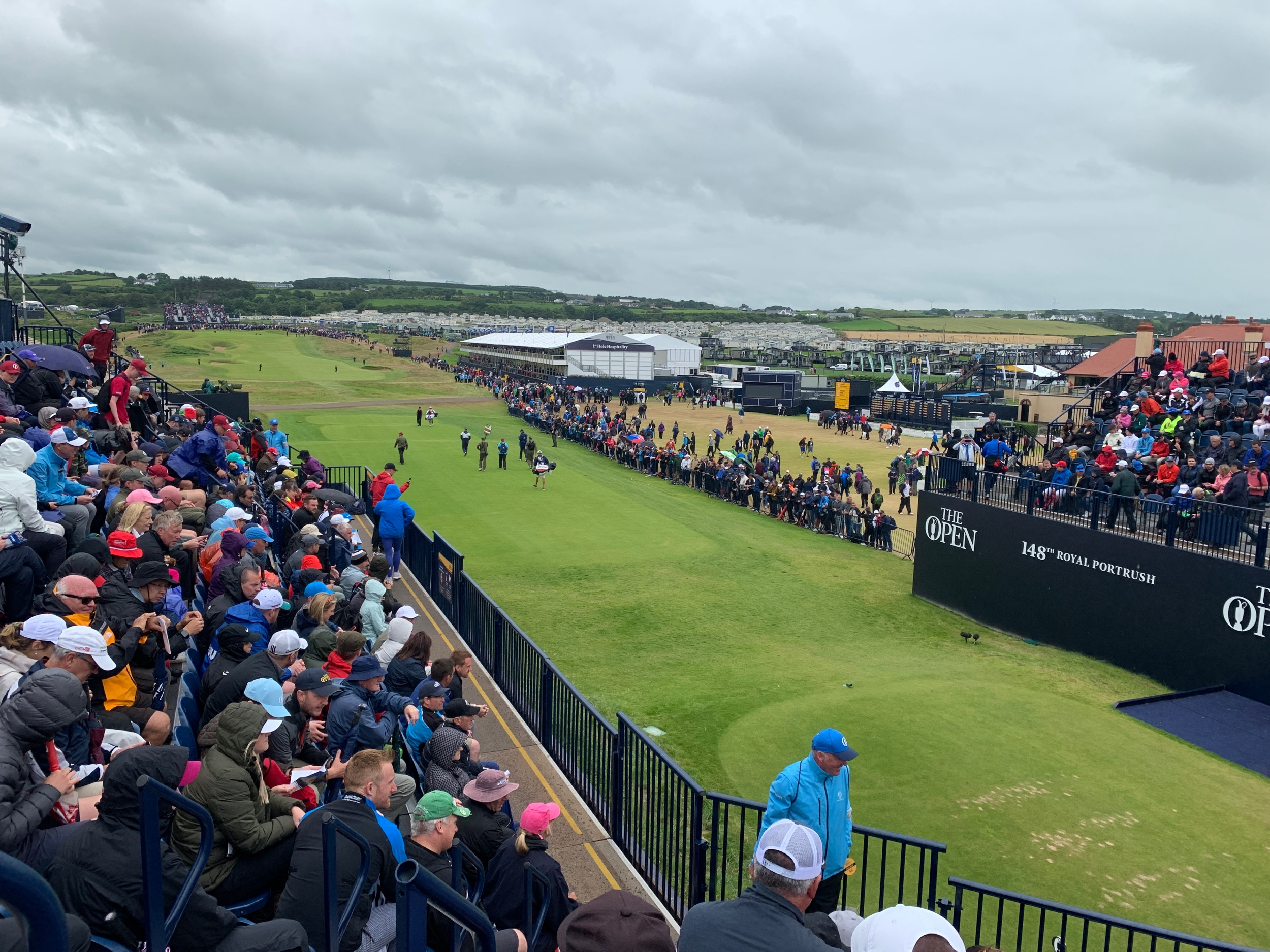 Great seats on the 1st tee