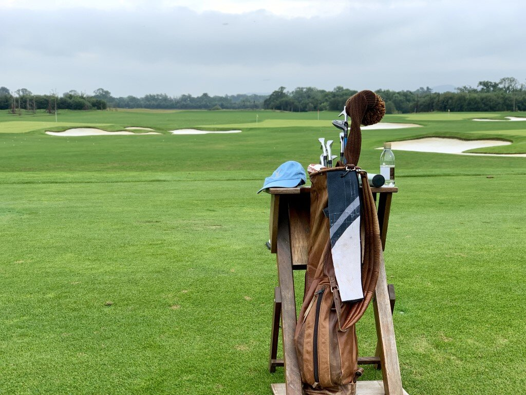 The driving range at Adare Manor is one of the best around