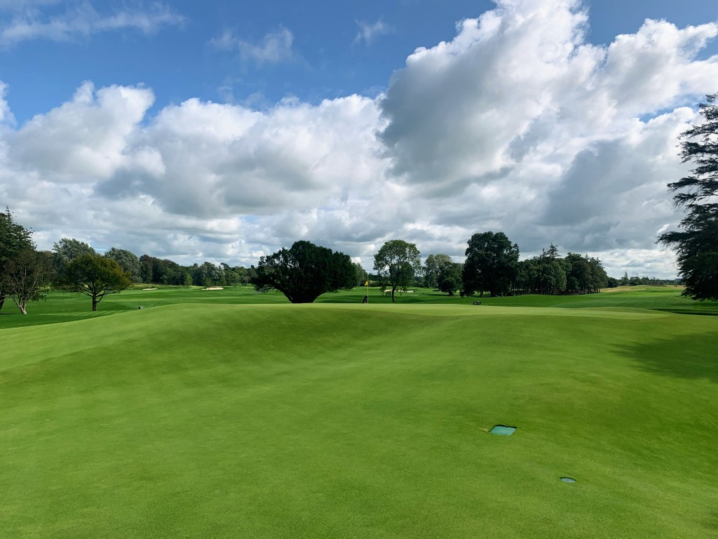 The run-off area on the 9th is a good example of what you will find around the greens at Adare Manor
