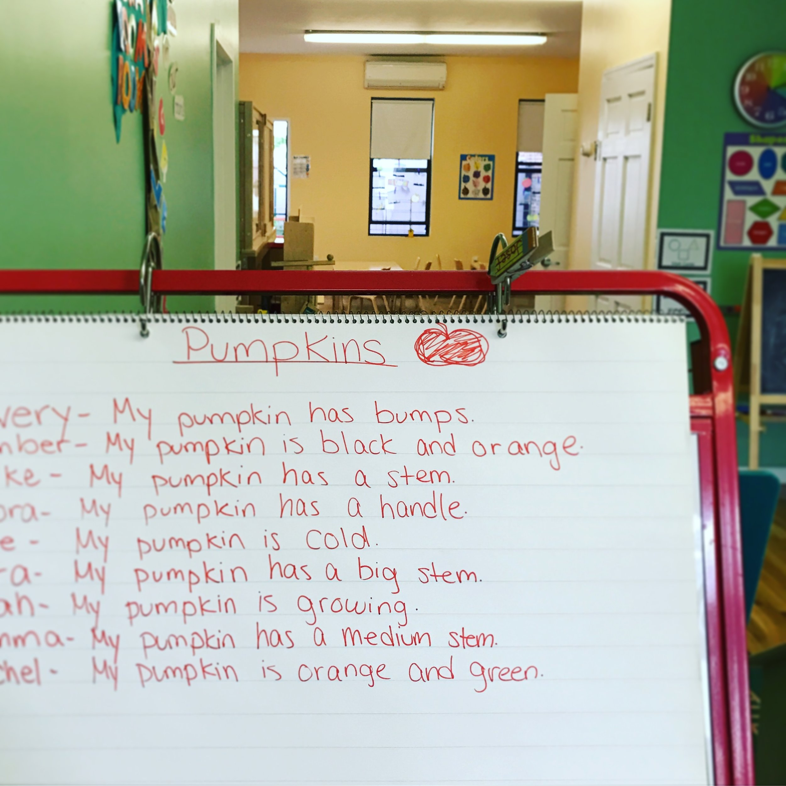 Our initial list from sensory observation!