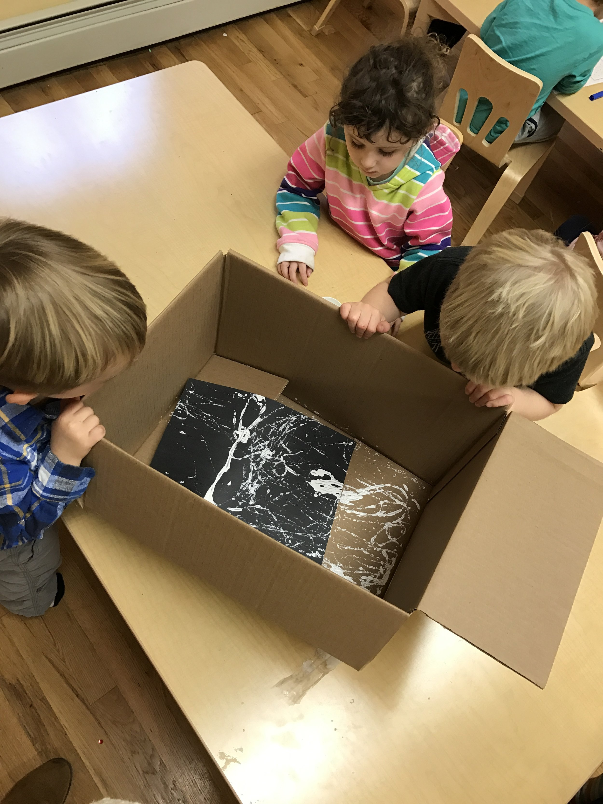 Marble art gets the ball rolling on our spider web designs!