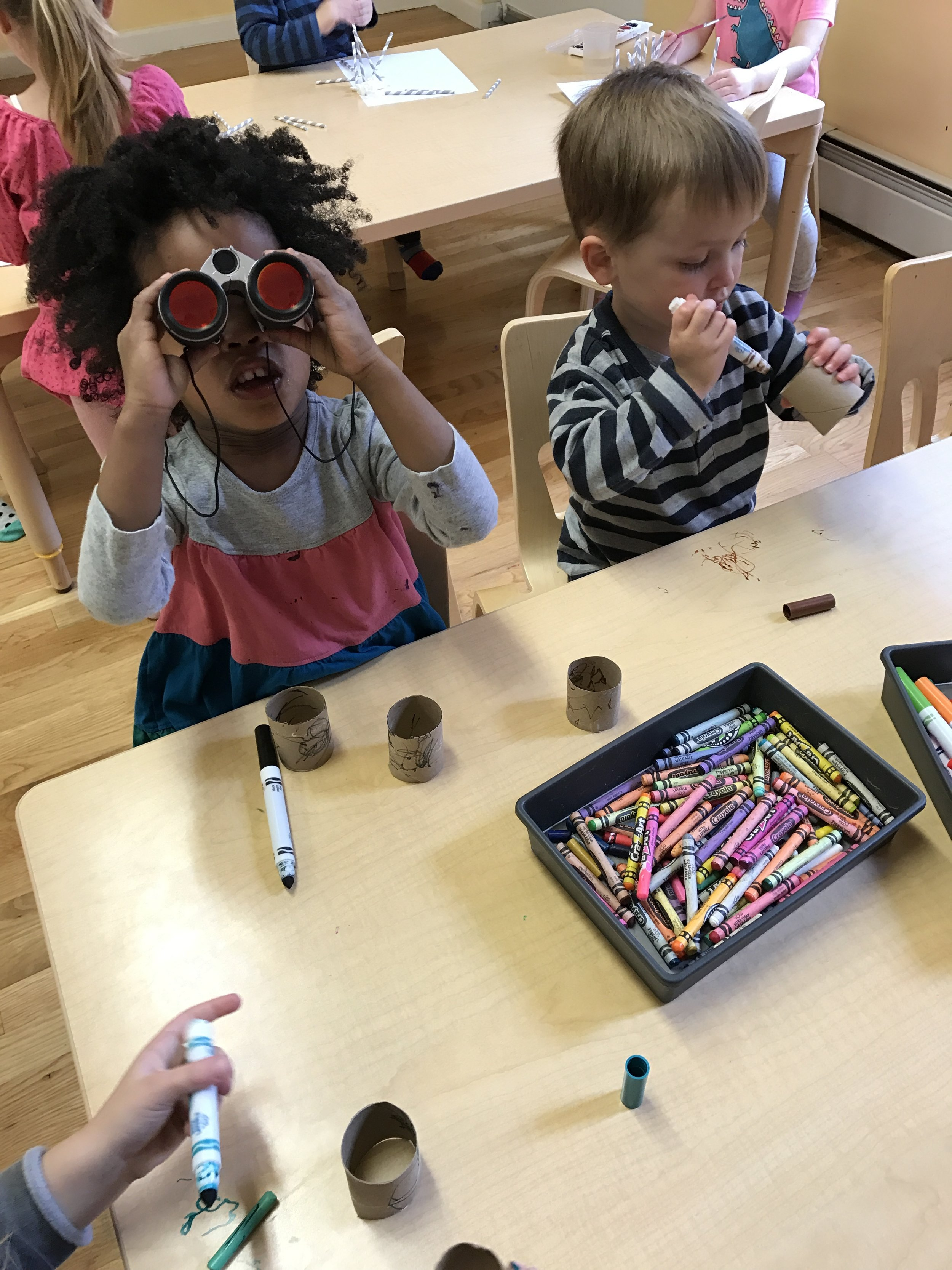 Crafting our own binoculars!