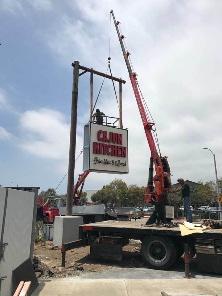 Goleta Sign for New Restaurant