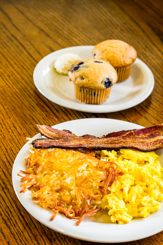 Egg Special - $8.25 - 1 egg, choice of bacon, links, or ham, choice of breakfast potatoes, and toast
