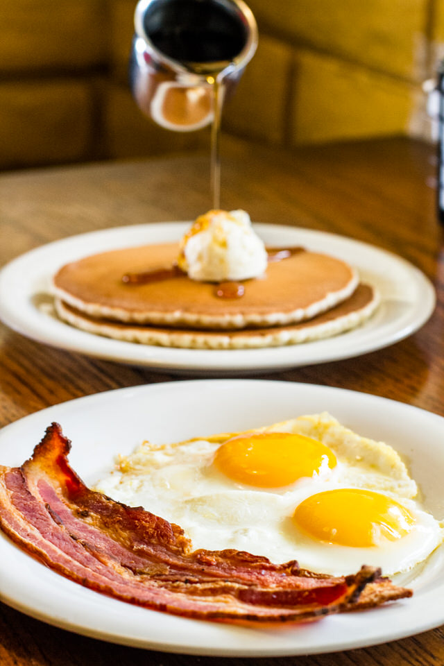 2-2-2 Special - $9.99 - 2 eggs, choice of bacon, links, or ham & 2 buttermilk pancakes (upgrades will result in an up-charge)