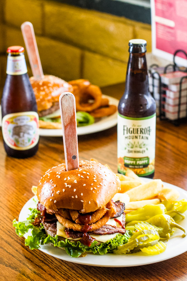 Burger & Beer Special - $13.99 - Any Burger + Any Beer (Regular upgrade charges apply) Orders include a choice of side: Fries, Mac Salad, Potato Salad, or Coleslaw. Upgrades available +$1.00: Onion rings, Sweet Potato Fries, Salad, or a Cup of Fruit.See below for burger and beer selection