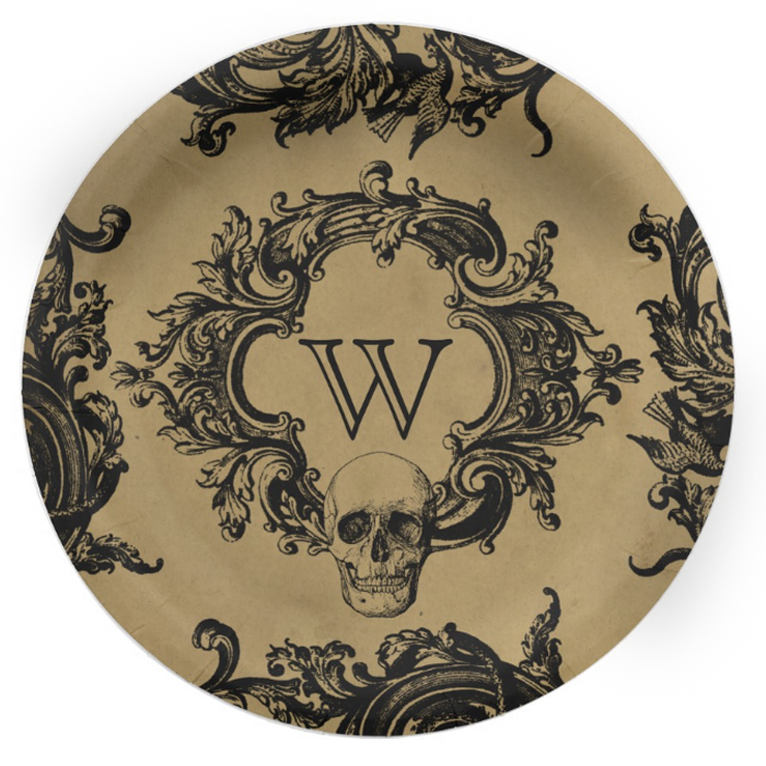 Vintage Gothic Glam Paper Plates -