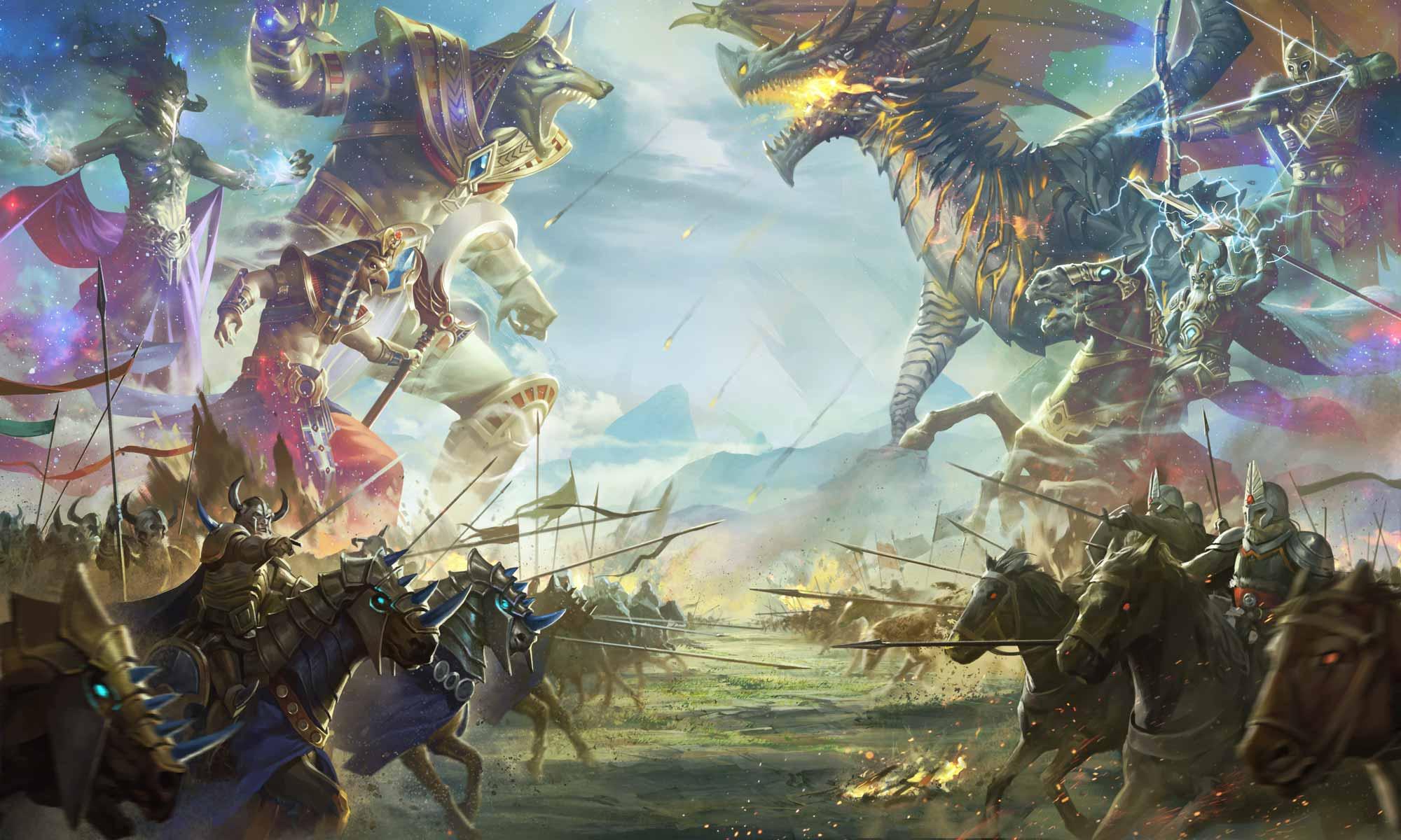 WAR OF GODS: DESTINED    驾驭古神的力量!   赶快加入到一个充满幽默,背叛,竞争对手和英雄的史诗般的冒险。你将拥有强大的英雄和神灵,呼唤他们强大的力量来帮助你赢得光荣的战斗吧!   了解更多