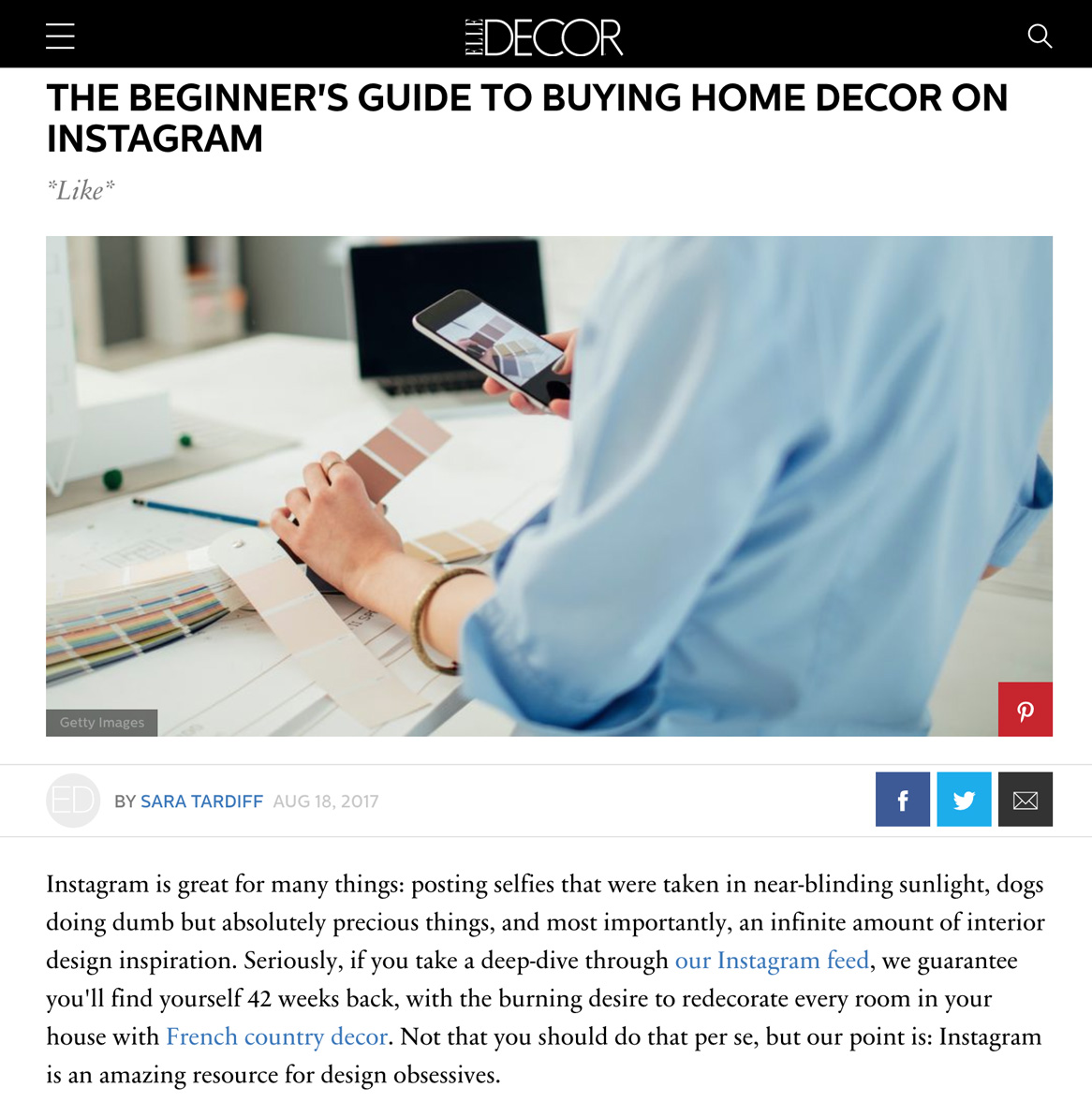 Guide to Buying Home Decor on Instagram
