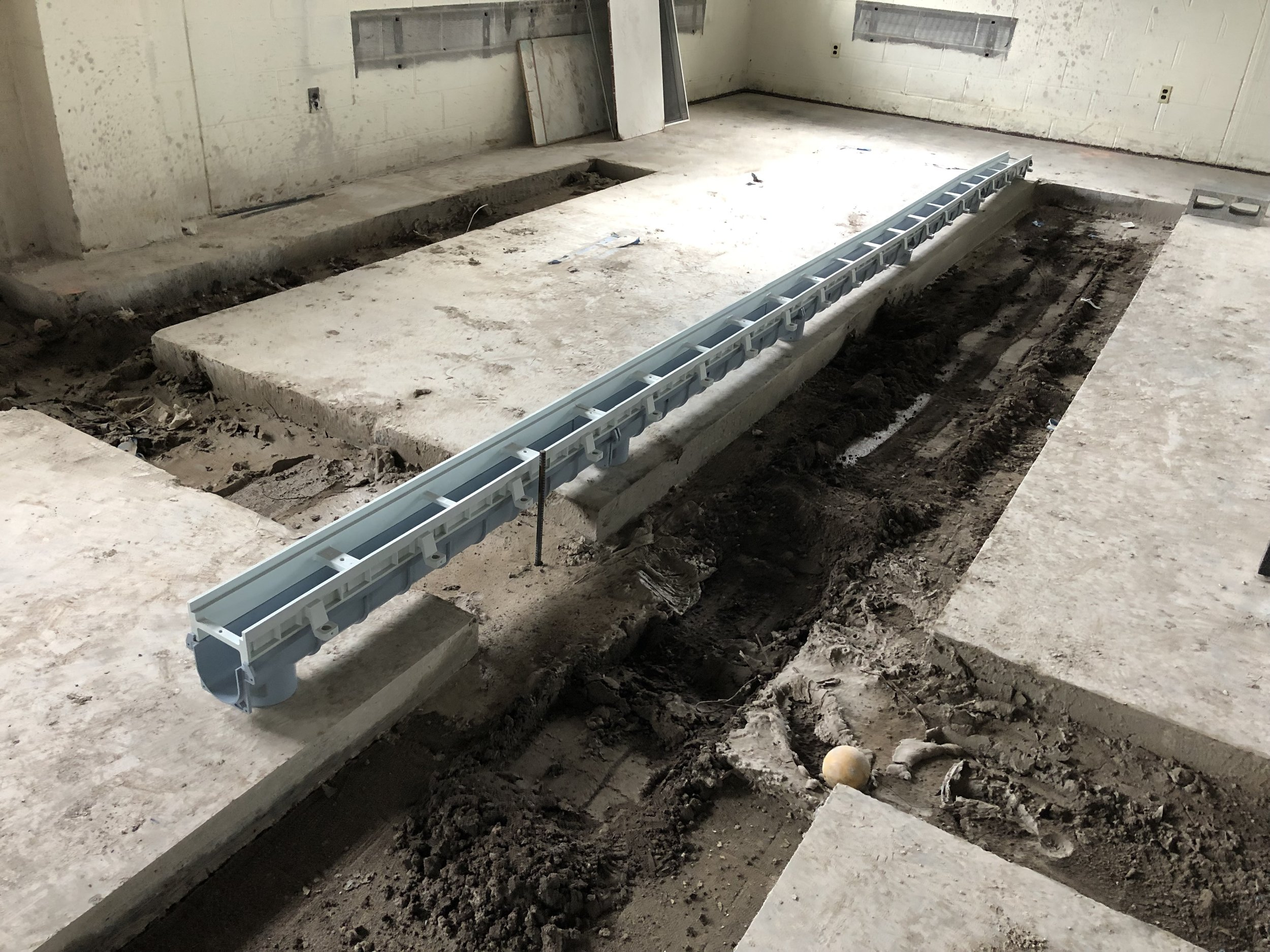 Kennel trenches taking shape