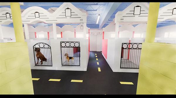 doggy duplexes - indoor kennels