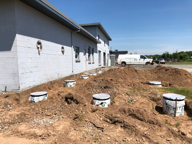 Footings in place for outdoor kennels