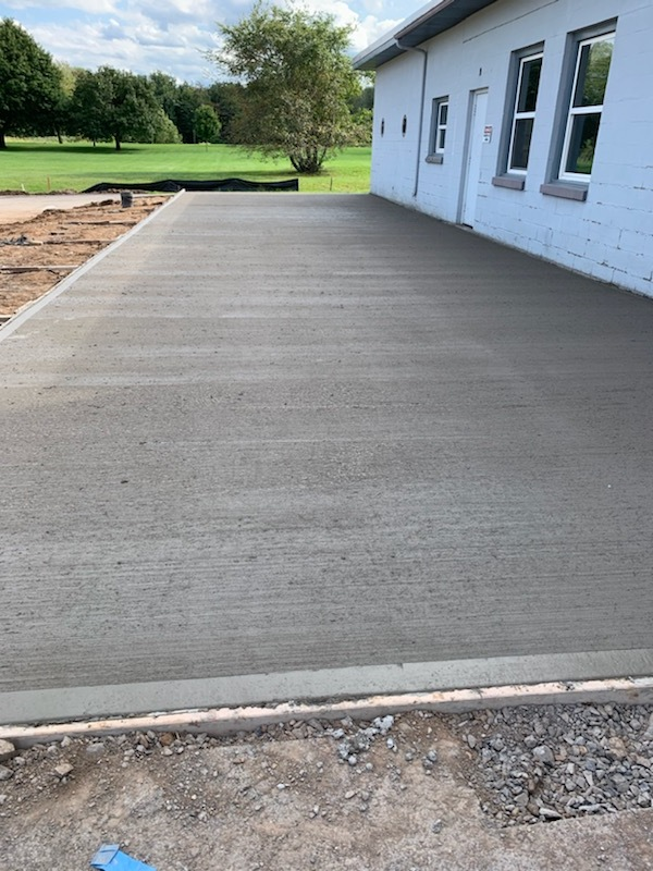 Concrete pad for outdoor kennels