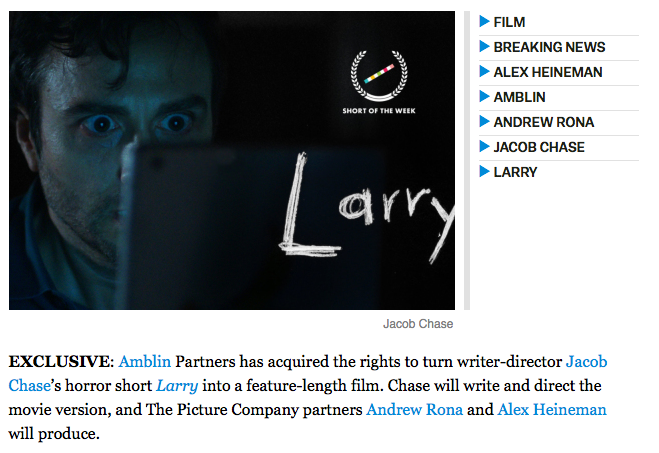 Amblin & The Picture Company Land 'Larry' -