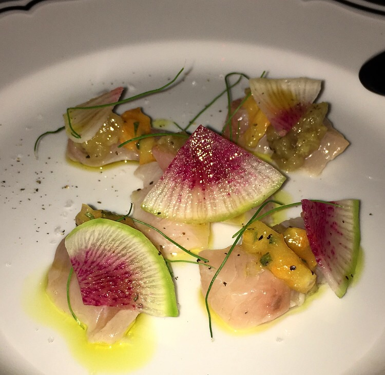 Beautifully presented Crudo of the Day with