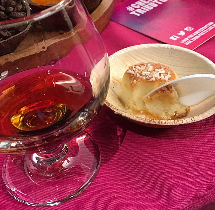 Coconut flan with crispy coconut and sea salt by Markus Glocker of  Batard  paired so well with rum