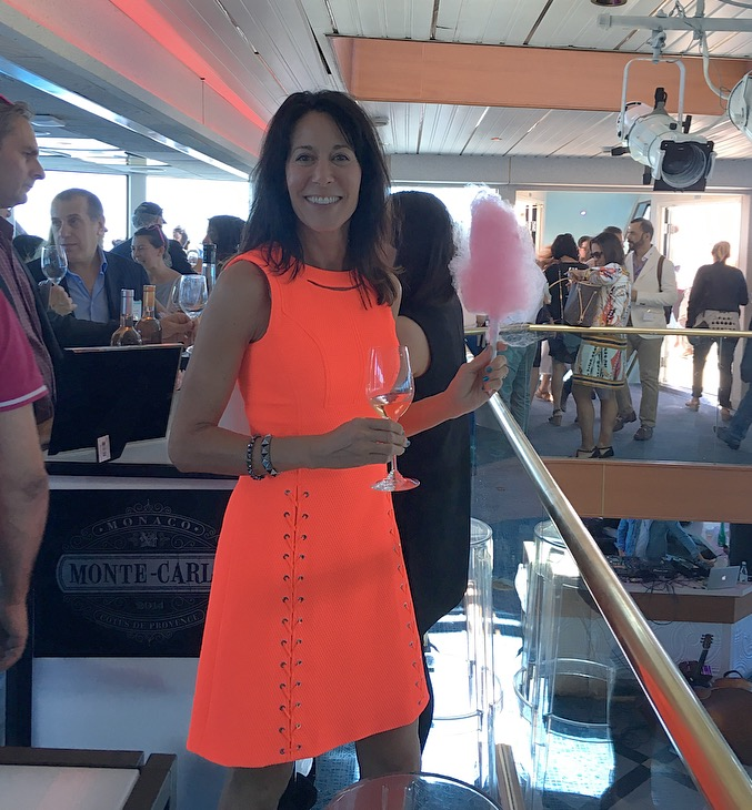 Out on the Hudson River, Enjoying some cotton candy with my rosé on the  La Nuit En Rosé  cruise.